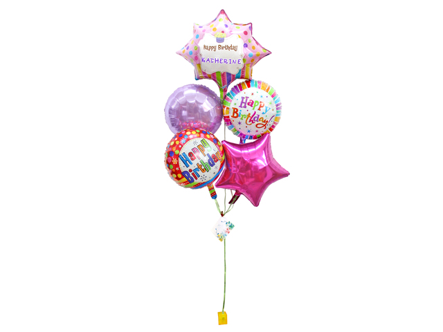 Balloon Gift - Happy Birthday helium balloon X 5 - L155964 Photo