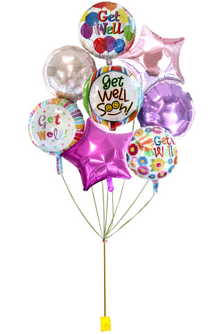 Balloon Gift - get well helium balloon X 8 - L36514639 Photo
