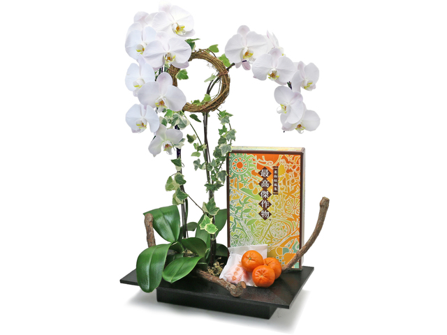 Birthday Present - Orchids Vase Florist Gift  PH28 - L76607349 Photo