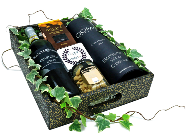 Birthday Present - Wine Gift Hamper with Electronic Wine opener - L36669557 Photo