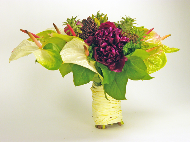 Bridal n Wedding - Fresh Anthurium and Peony Garden - P3185 Photo