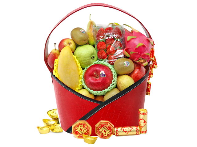 CNY Gift Hamper - CNY fruit basket M10 - L76600717B Photo