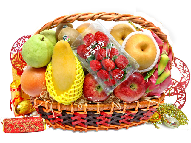CNY Gift Hamper - CNY fruit basket M2 - L76600766b Photo