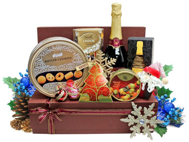 Christmas Gift Hamper - Christmas Gift Basket S21 - L36666816 Photo