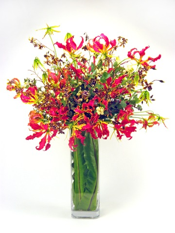 Florist Flower Arrangement - Fire Fire - P2969 Photo