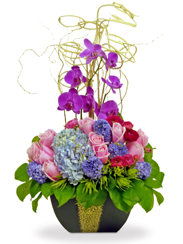 Florist Flower Arrangement - Purple Dream - P4434 Photo