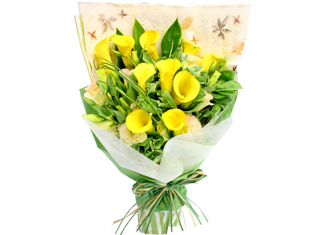 Florist Flower Bouquet - Calla Lilies Flowers Bouquet 01 - L105604 Photo