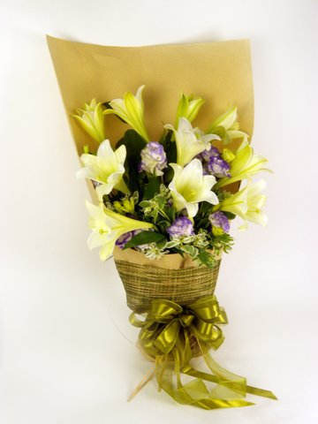 Florist Flower Bouquet - Champaign Elegance (B) - P16058 Photo