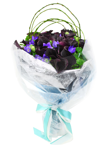 Florist Flower Bouquet - Dark Calla Bouquet - L12073 Photo