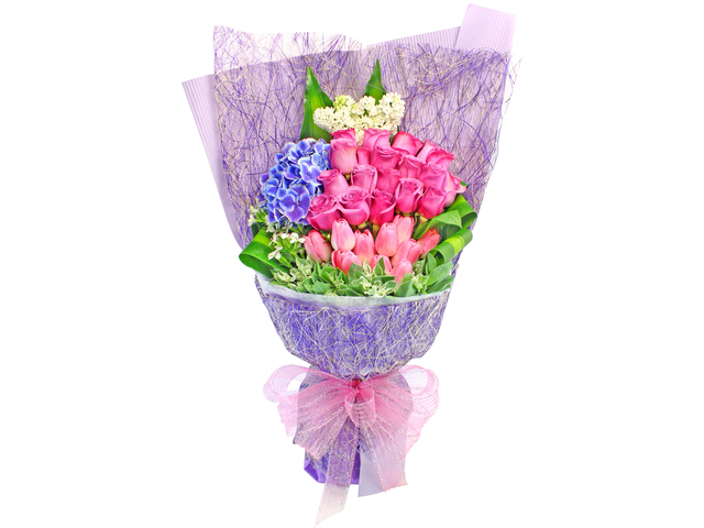 Florist Flower Bouquet - Florist Roses Bouquet 12 - L129045 Photo