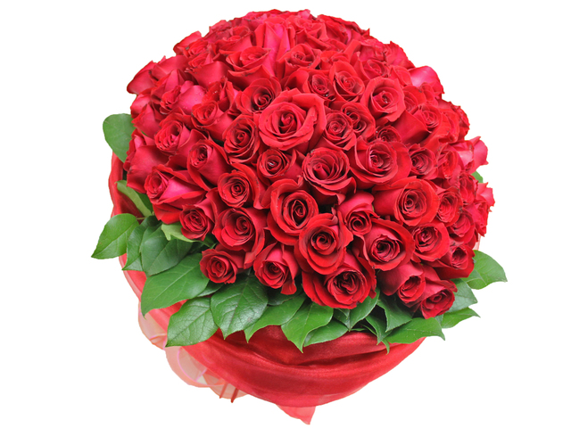 Florist Flower Bouquet - For You Only (99 Rose Bouquet) - L06847 Photo