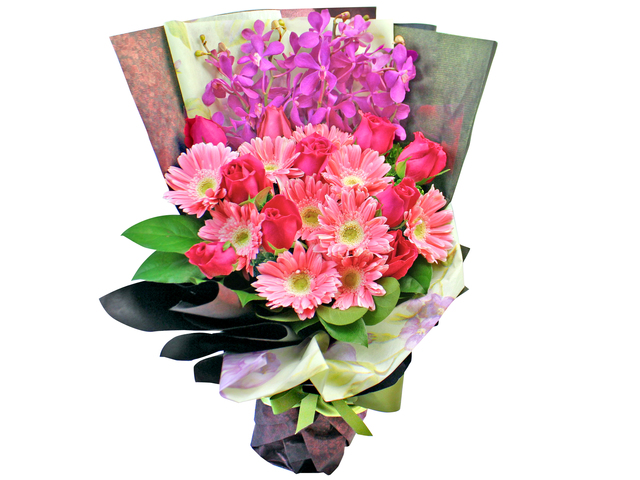 Florist Flower Bouquet - Japanese Violet Red Bouquet  - L179755 Photo