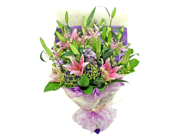 Florist Flower Bouquet - Must Love Lilies Bouquet - L06826 Photo