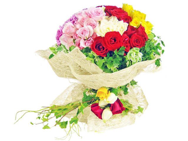 Florist Flower Bouquet - Playful Beauty (99 Rose Bouquet) - P1330 Photo