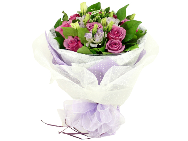 Florist Flower Bouquet - Purple Passion Bouquet - P0974 Photo