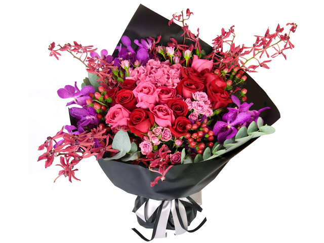 Florist Flower Bouquet - Red rose florist gift PL01 - B2S0724A1 Photo
