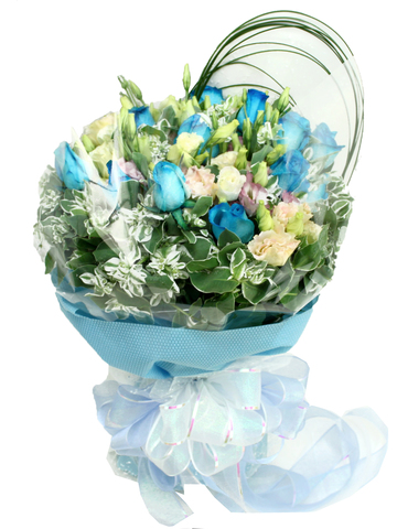Florist Flower Bouquet - Rhythm and Blues Bouquet - L07142 Photo
