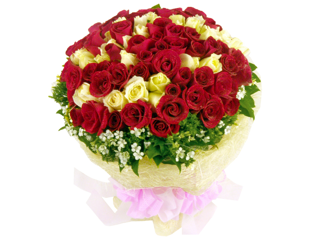 Florist Flower Bouquet - Rosy Nova (99 Rose Bouquet) - L06839 Photo