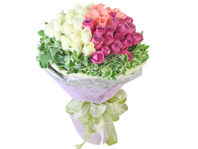 Florist Flower Bouquet - Tri-flavor Ice Cream Cone Bouquet - L10449 Photo