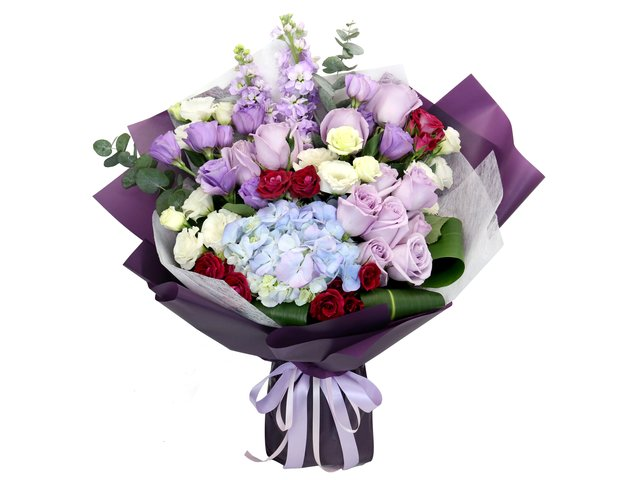 Florist Flower Bouquet - Valentine's Purple rose florist gift PL06 - BV2S0122A6 Photo