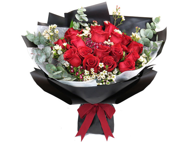 Florist Flower Bouquet - Valentine's Red rose florist gift PL03 - BV2S0122A4 Photo