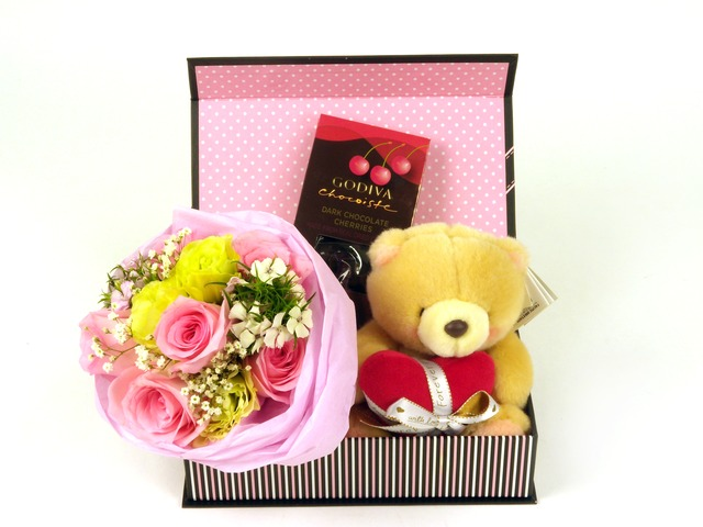 Florist Gift Set - Mini Three Times the Charm / Brithday Gift (04) - P5195 Photo