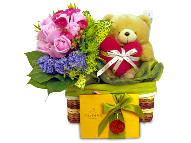 Florist Gift Set - Three Times the Charm (Y) /Birthday Gift 15 - P4387 Photo