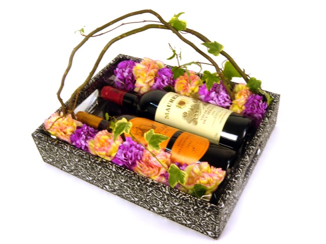 Florist Gift Set - Wine and Flowers (A) - P7767 Photo