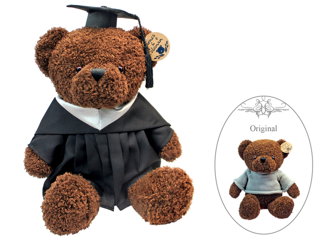 Florist Gift - Barnes & Coleman Graduation Chocolate Brown Bear - L175583 Photo