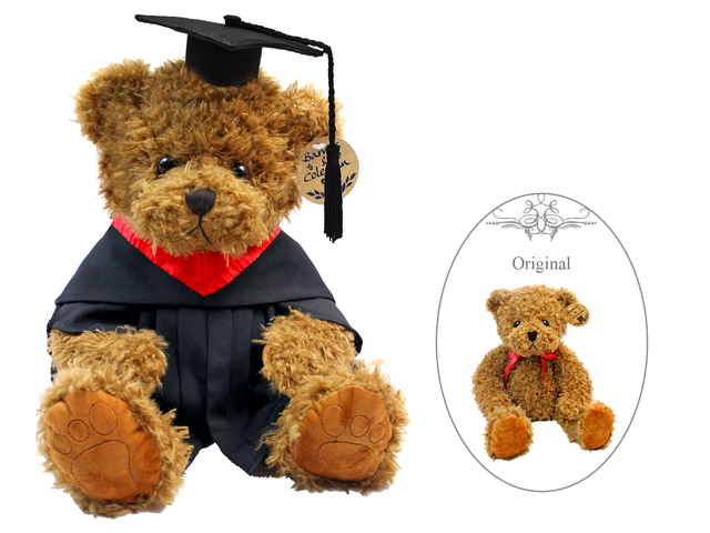 Florist Gift - Barnes & Coleman Graduation Classic Brown Teddy Bear  - L175569 Photo