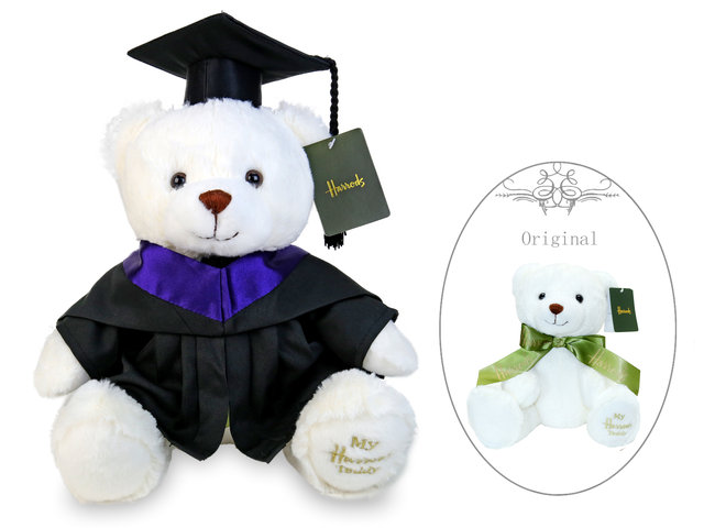 Florist Gift - Harrods Graduation Bear- Cream Bear - L36668900 Photo