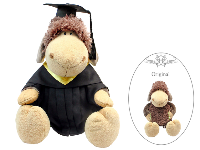 Florist Gift - Nici Graduation Doll - Brown Sheep  - L177511 Photo