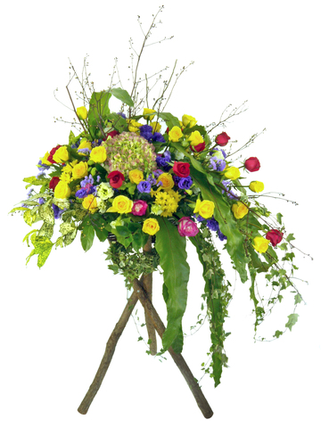 Flower Basket Stand - Grand Entrance flower basket - P7497 Photo