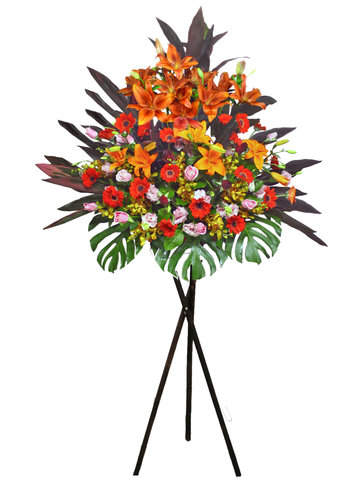 Flower Basket Stand - Import Lilies Stand 1 flower basket - L17038 Photo