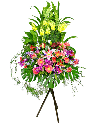 Flower Basket Stand - Opening flower basket 6 - L12518 Photo