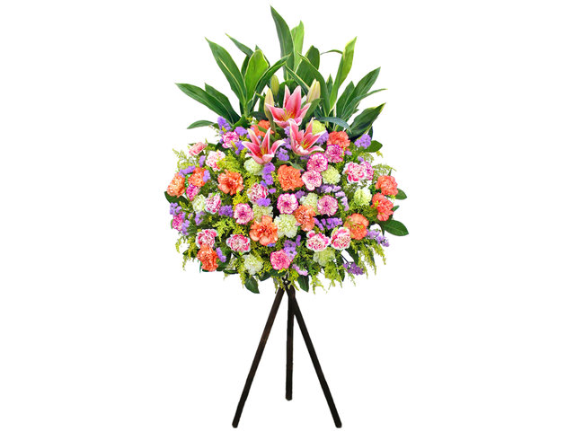 Flower Basket Stand - Opening flower basket A15 - L156863 Photo