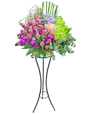 Flower Basket Stand - Opening flower basket A18 - L154661 Photo