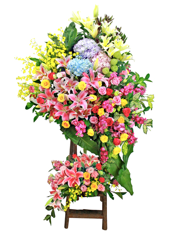 Flower Basket Stand - Opening flower basket A7 - L153266 Photo