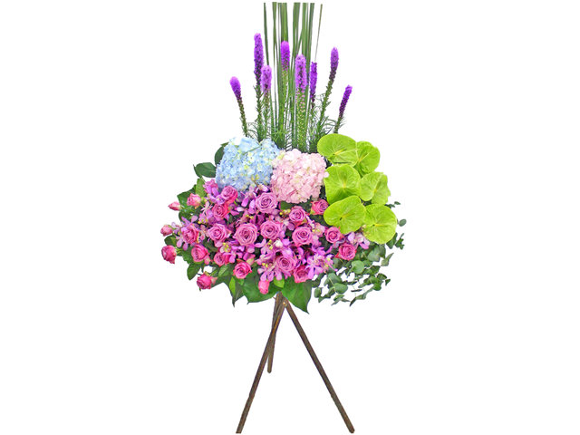 Flower Basket Stand - Opening flower basket A9 - L154893 Photo