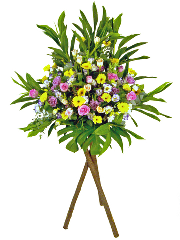 Flower Basket Stand - Warm Blessings flower basket - P17226 Photo
