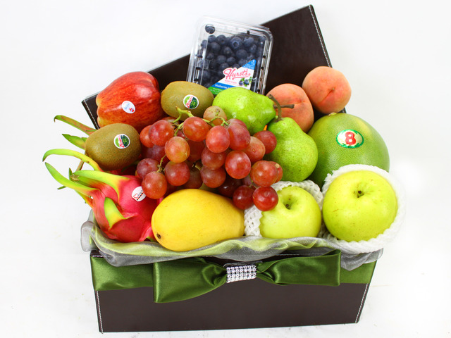 Fruit Basket - (10) Business Gift Fruit Hamper Box - L11434 Photo