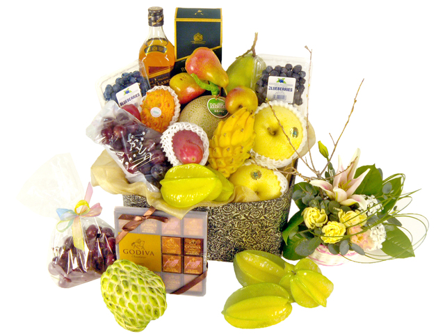 Fruit Basket -  Elegant Fruits Hamper(D) - P16241 Photo