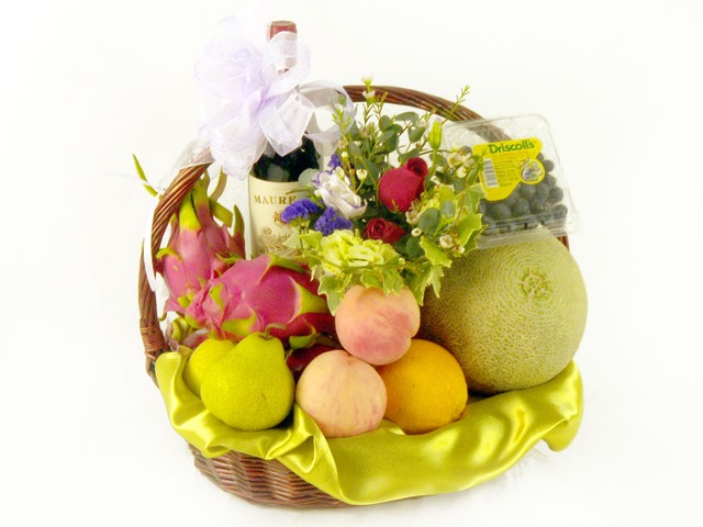 Fruit Basket -  Fruits and Wine - P18312 Photo