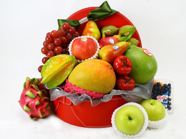 Fruit Basket - Business Delux Fruit Gift Leather (17)  - L11438 Photo