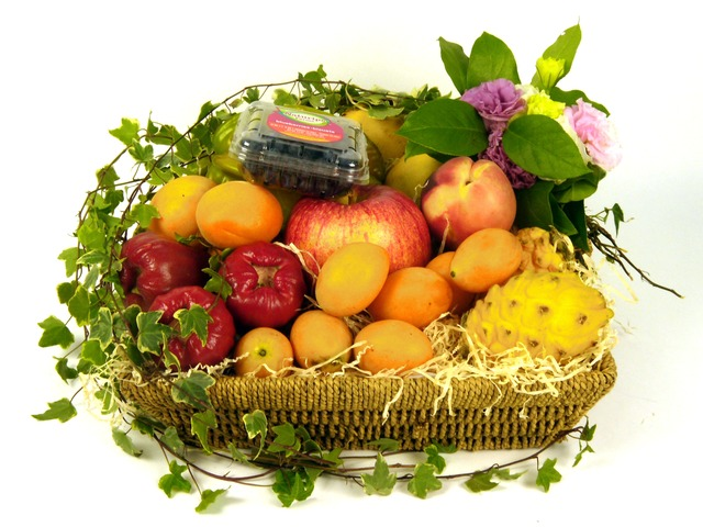 Fruit Basket - Fruits and Flowers (D) - P7161 Photo