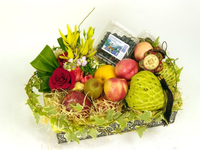 Fruit Basket - Fruits and Flowers (M) - P16767 Photo