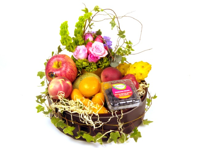 Fruit Basket - Fruits and Flowers A1 - P7043 Photo