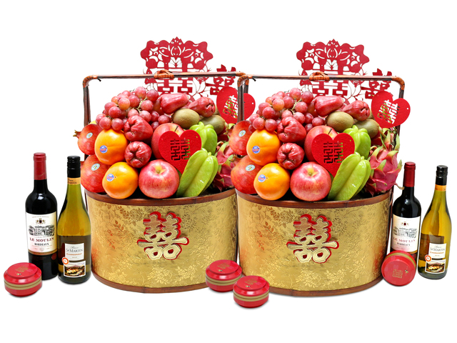 Fruit Basket - chinese wedding gift basket 5 - L76602233b Photo