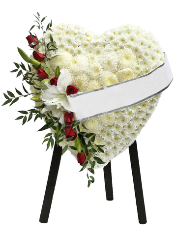 Funeral Flower - Full Closed Heart Stand 23 - L53391 Photo