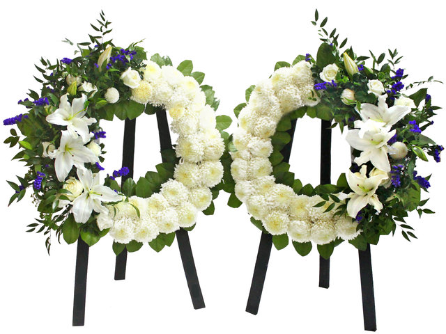 Funeral Flower - Funeral Wreath (Pair) D - L53394 Photo